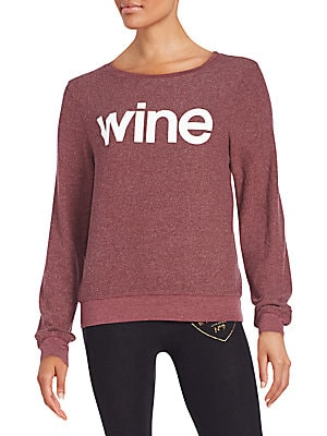 Wine Graphic Sweatshirt