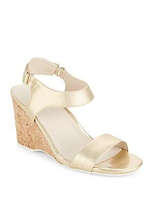 Izzy Metallic Wedge Sandals