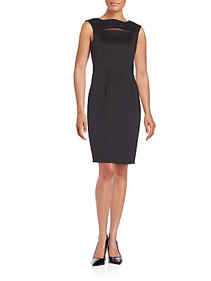 Cutout Slit Sheath Dress