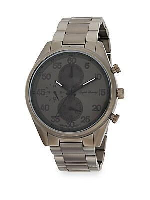Gunmetal-Tone Stainless Steel Bracelet Watch