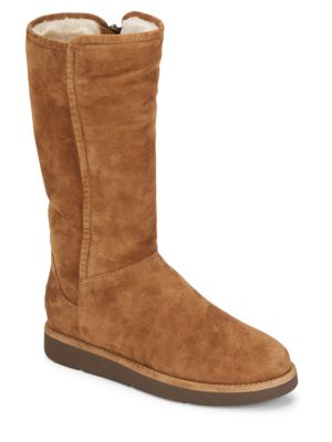 ABREE SHEARLING-LINED TALL SUEDE BOOTS