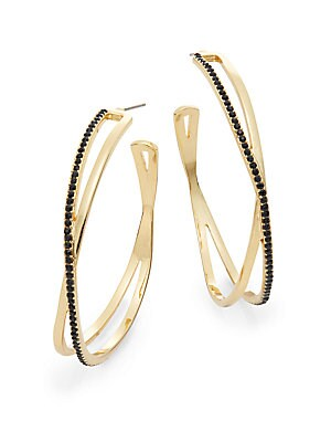 Pavé Crystal Threaded Twist Drop Earrings