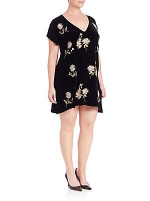 Margarit Asymmetrical Velvet Dress