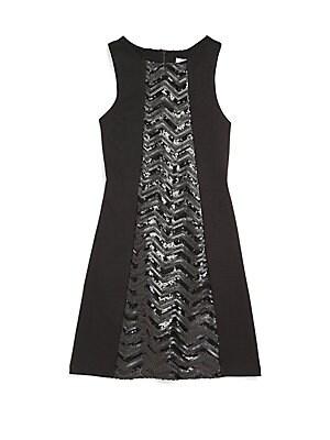 Girl's Sequin-Panel Dress