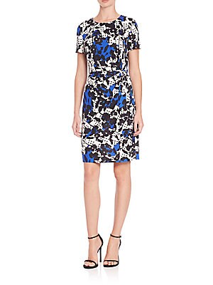 Zoe Printed Silk Wrap Dress