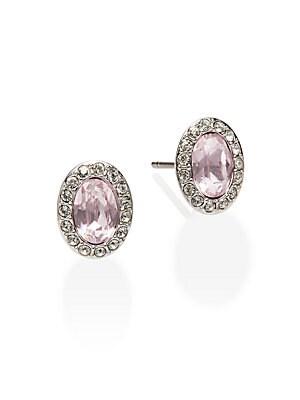 Christie Swarovski Crystal Button Earrings