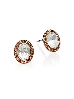 Arrive Swarovski Crystal Button Earrings