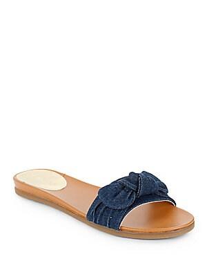 Evie Denim Slide Sandals
