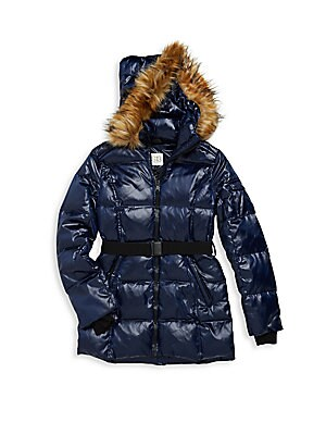 Girl's Down Filled Hooded Parka