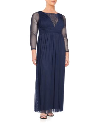 Embellished Long Sleeve Gown Marina, Plus Size