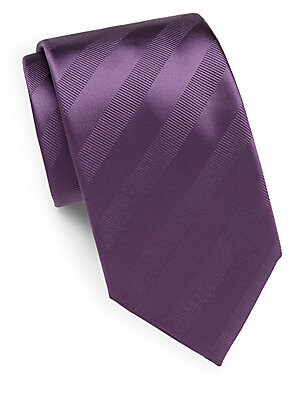 Tonal Striped Silk Tie