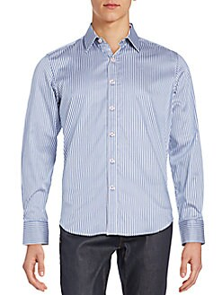 Tailored-Fit Offshore Striped Cotton Sportshirt