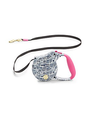 Zebra-Print Retractable Leash