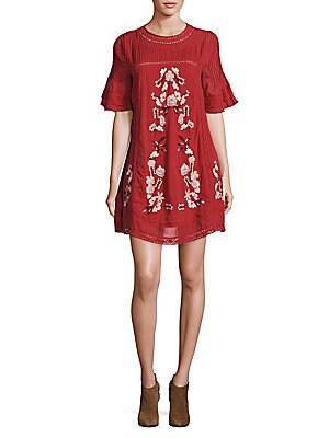 Perfectly Victorian Embroidered Mini Dress