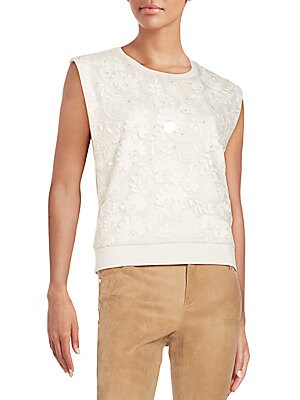 Beryl Sequin Embroidered Top