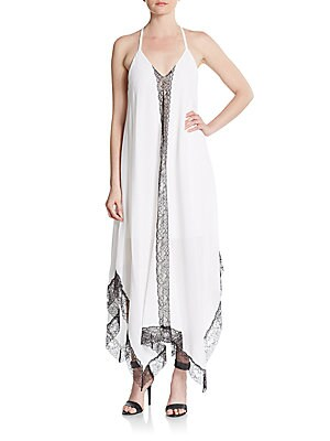 Rav Lace-Trim Cotton Maxi Dress