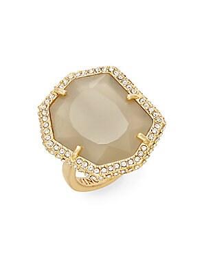 Femme Rocks Pavé Border Ring