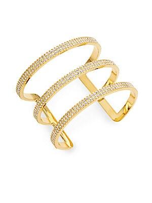 Pavé 3-Bar Cuff Bracelet