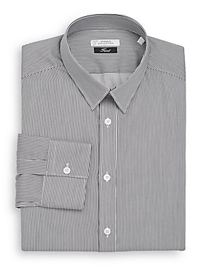 Trend-Fit Hairline Striped Dress Shirt