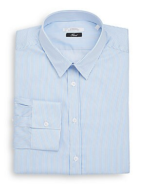 Trend-Fit Striped Dress Shirt