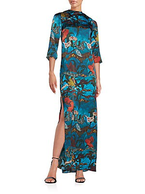 Christi Printed Silk Maxi Dress