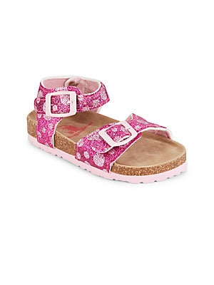 Girl's Polka Dot Glitter Sandals