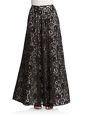 Issa Embellished Lace Maxi Skirt