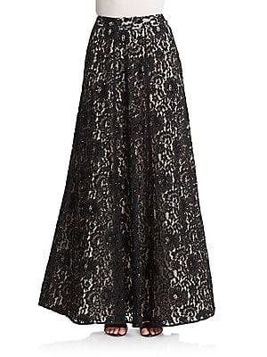 Issa Embellished Lace Maxi Skirt