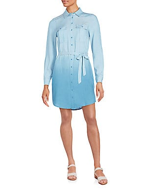 Ombré Shirtdress