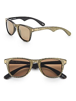 50MM Glitter Carrera Wayfarer Sunglasses
