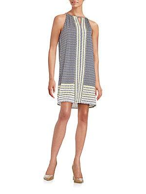 Geometric-Print Matte Jersey Dress