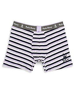 Striped Knit Boxer Briefs