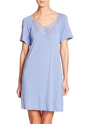 Margherita Lace-Trimmed Nightgown