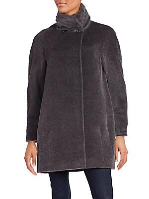 Llama & Wool Blend Coat