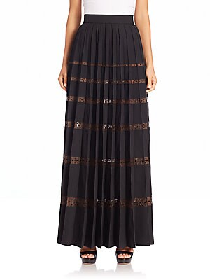 marc jacobs female embellished sheerstripe skirt