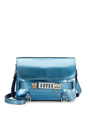 PS11 Classic Patent Leather Shoulder Bag