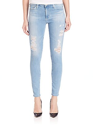 Mid-Rise Distressed Legging Ankle Jeans