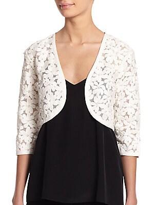 Beaded Floral Bolero Jacket