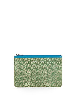 Medium Printed Leather Zip Pouch