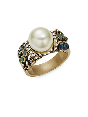 Faux Pearl Embellished Ring