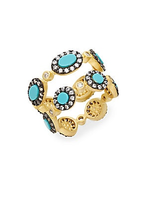 Turquoise Stacked Ring Set