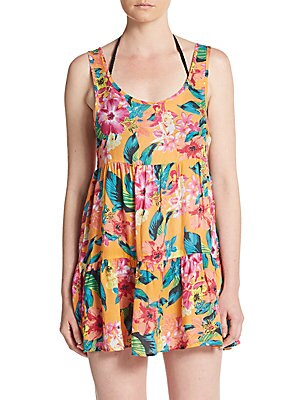 Paradiso Floral-Print Coverup