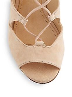 Ruthie Suede Gladiator Wedge Sandals