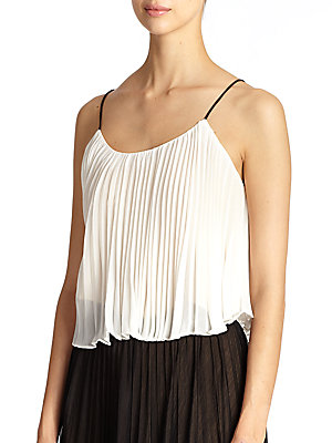 Pleated Crop Camisole