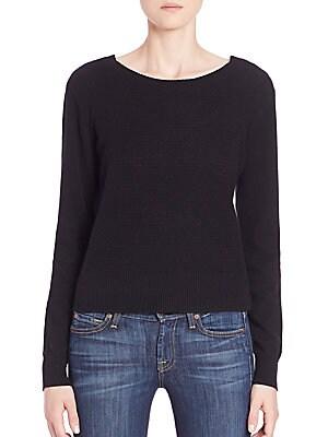 Cashmere Cross-Back Sweater