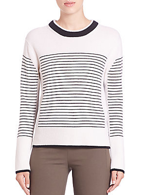 Masie Striped Crewneck Sweater