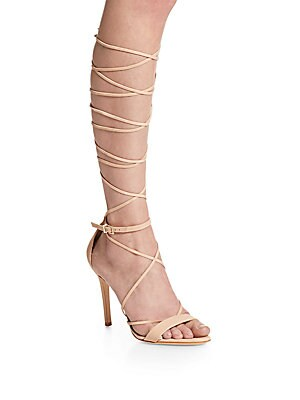 Jeanette Suede Wrap Sandals