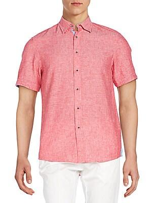 Linen & Cotton Short Sleeve Shirt