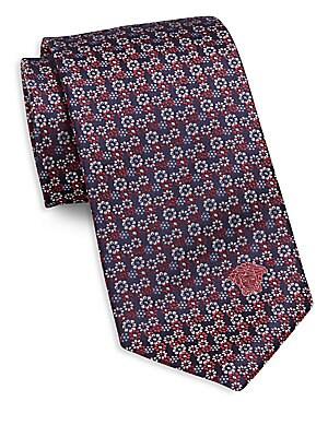Micro Floral Silk Tie