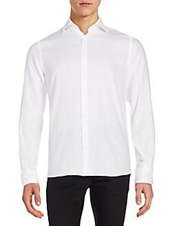 Slim-Fit Cotton Sportshirt